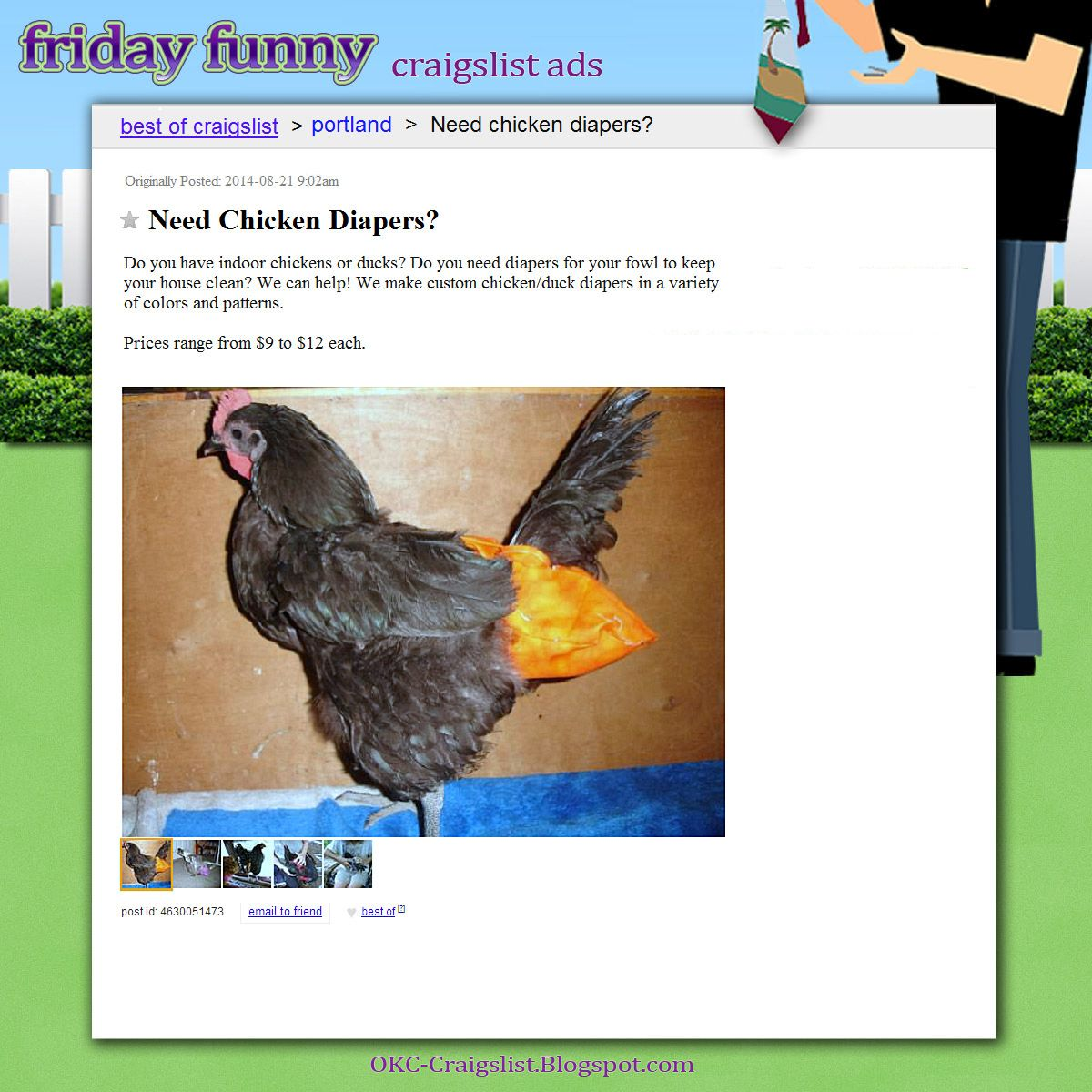 Funny Craigslist Ads Need Chicken Diapers Funny Craigslist Ads