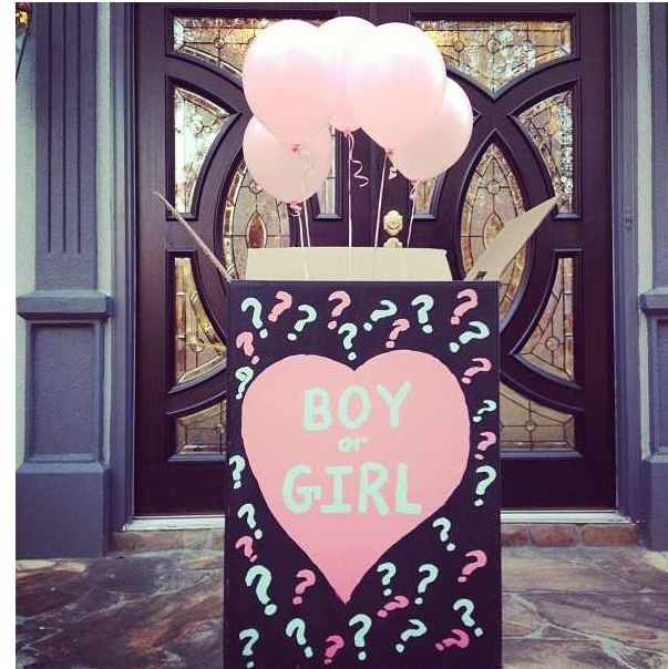 Gender Reveal Box Approx 4 Feet Tall Selling It Let Me Know If You Want It Took Too Long To Make To Gender Reveal Box Gender Reveal Party Reveal Parties