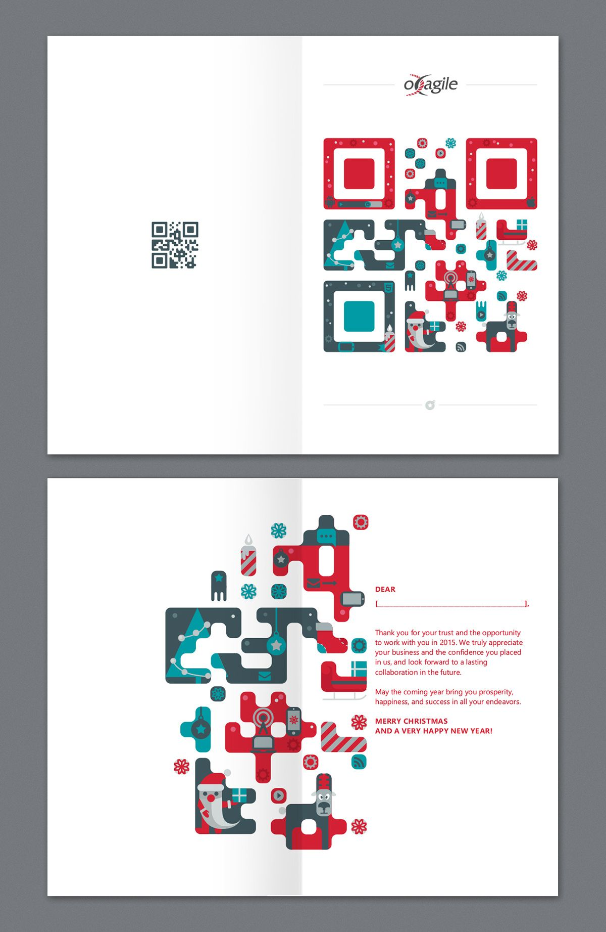 Christmas card with QRcode on Behance  Christmas poster design