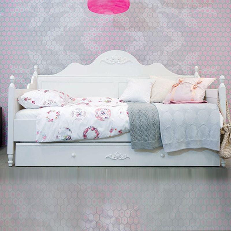 bopita romantic bettbank 90 x 200 cm mit ornament wei. Black Bedroom Furniture Sets. Home Design Ideas