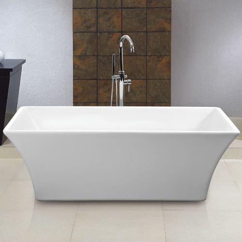 60 Free Standing Tub.  1199 Draque Freestanding Acrylic Tub 66 3 8 L x 29 1 4 W