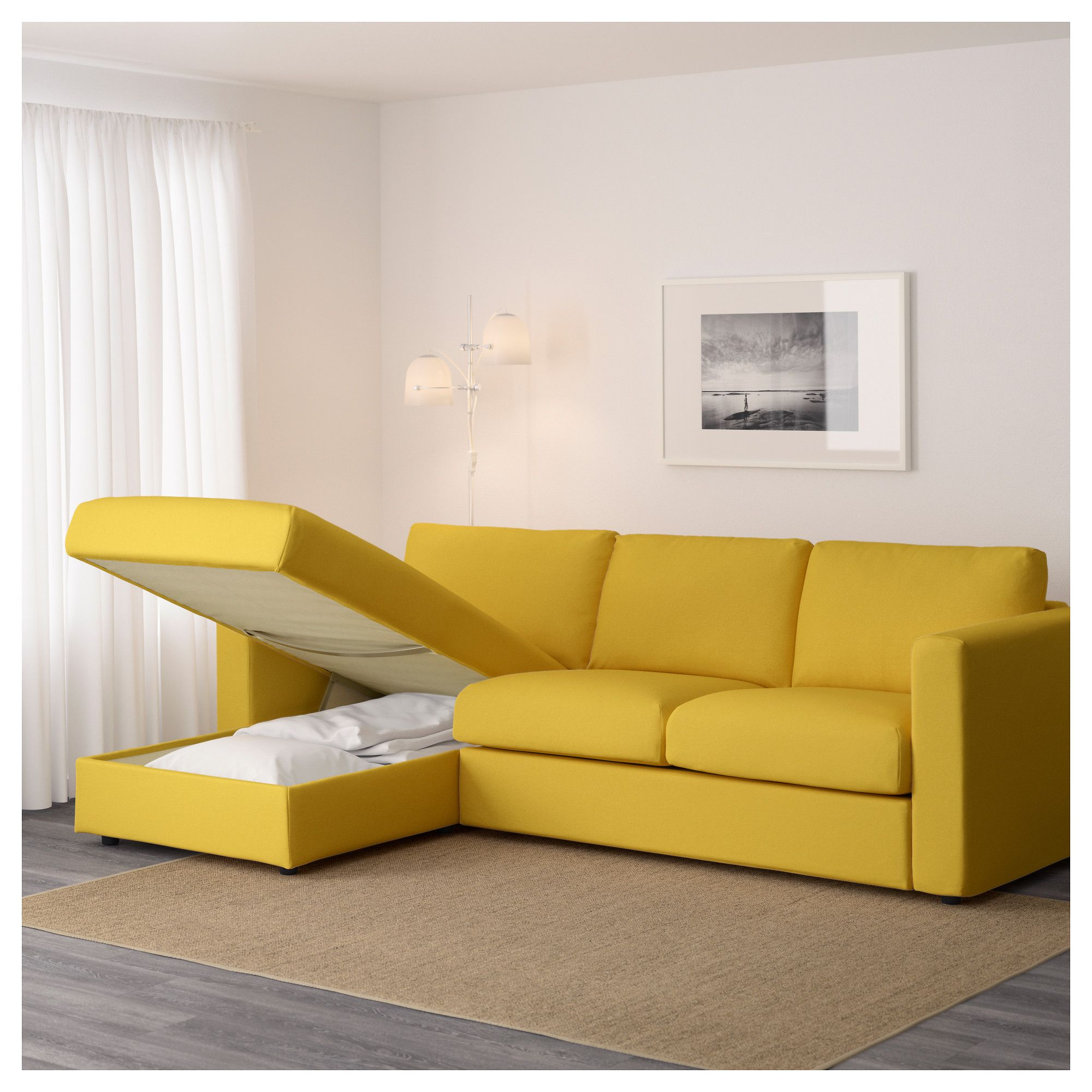 Sofa Hudson Möbelhaus Vimle Sofa With Chaise Orrsta Golden Yellow Apartment In
