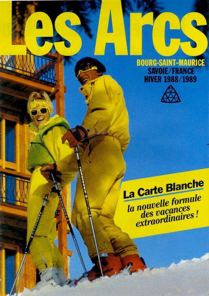 Promo Les Arcs 1989 Christine Et Yann Sport D Hiver
