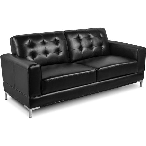 Myer Leather Look Fabric Sofa Black
