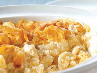 Charming Classic Creamy Mac And Cheese (cottage Cheese, Sour Cream, Corn Flake  Topping)