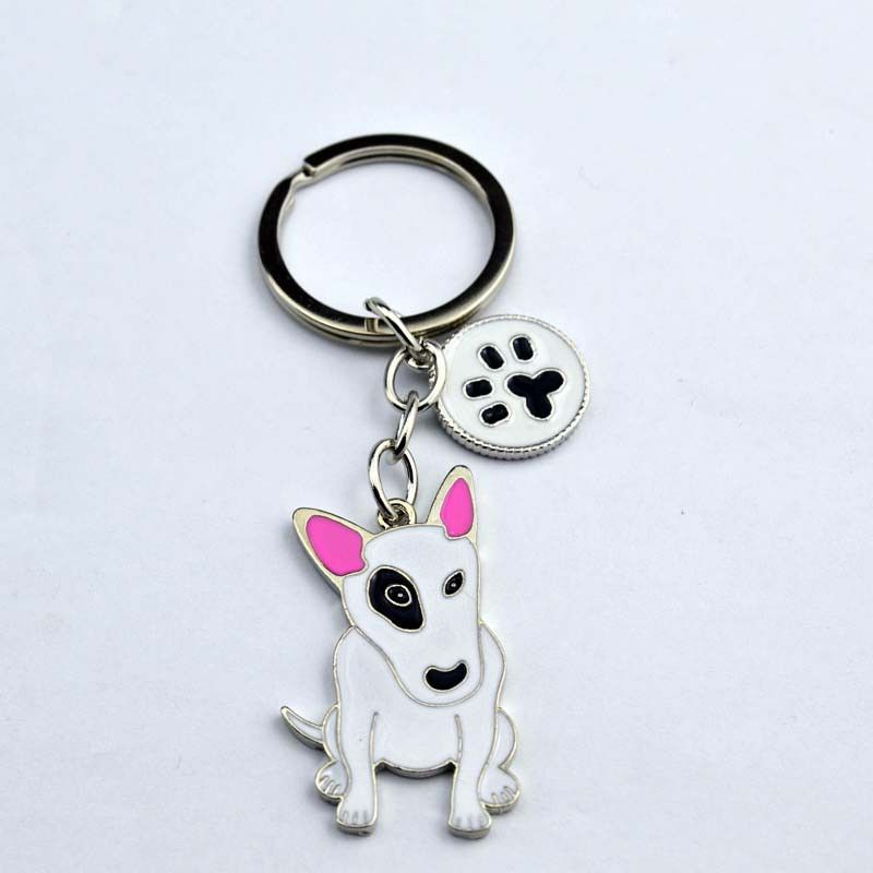 Ornament factory latest hot-selling bull terrier Key Chain.Factory Exclusive sales.price concessions,quality assurance.