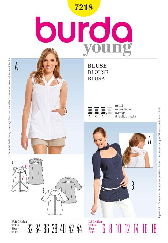 Simplicity Creative Group - Burda Style Blouse | Modern Sewing ...