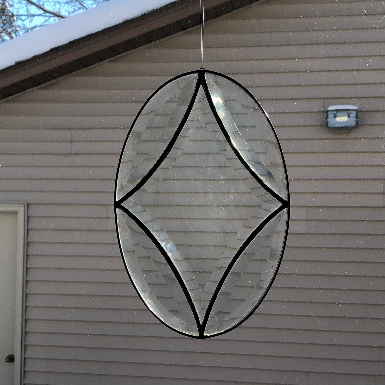 Beveled Star Light Reflector Window Hanging Suncatcher
