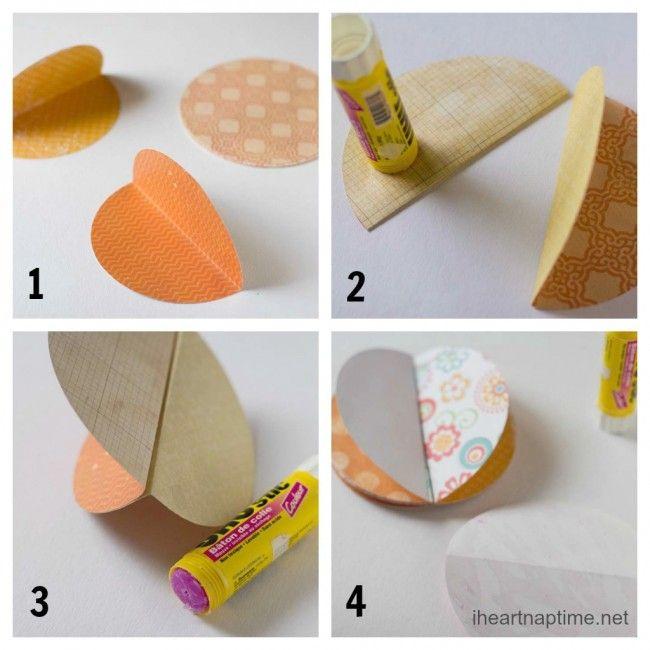 calabazas de papel | Ideas faciles | Pinterest | Calabaza de papel ...
