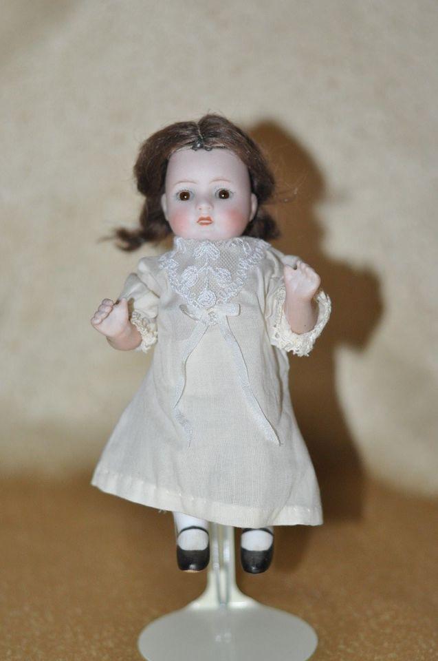 "Antique 6 3/4""in. German All Bisque Bonn Doll"