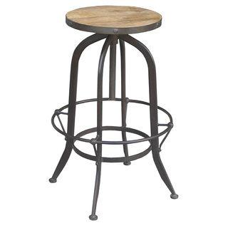 Surprising Industrial Round Reclaimed Wood And Iron Stool India Inzonedesignstudio Interior Chair Design Inzonedesignstudiocom