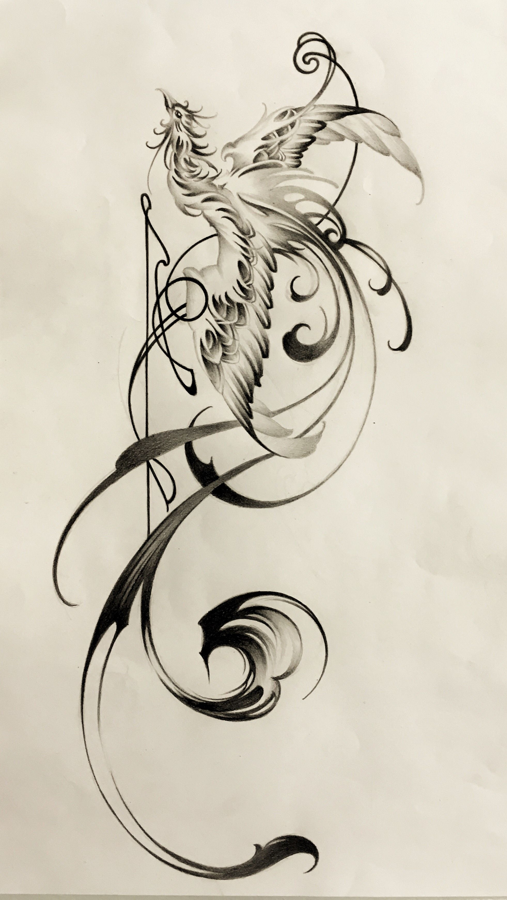 phoenix with brushstrokes tattoo design sumi tattoo artwork tattoo shop. Black Bedroom Furniture Sets. Home Design Ideas