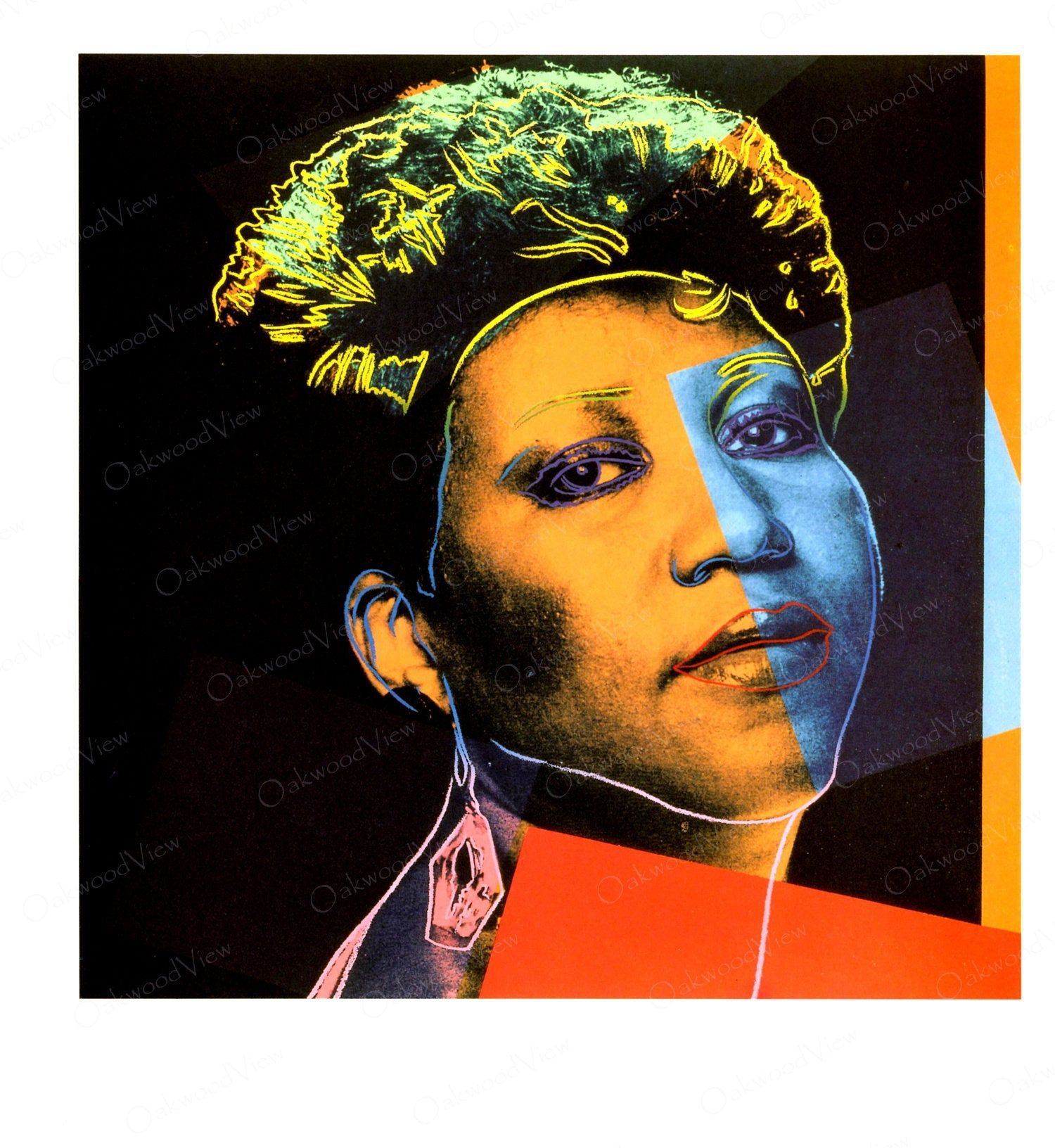 ANDY WARHOL Aretha Franklin 2 Vintage Pop Art 2-Sided | Etsy