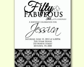 Il340x2705198203377vtag 340270 formal invites pinterest birthday surprise invitation formal adult party invite 50 and fabulous black white damask party invite printable jpg file invite filmwisefo Gallery