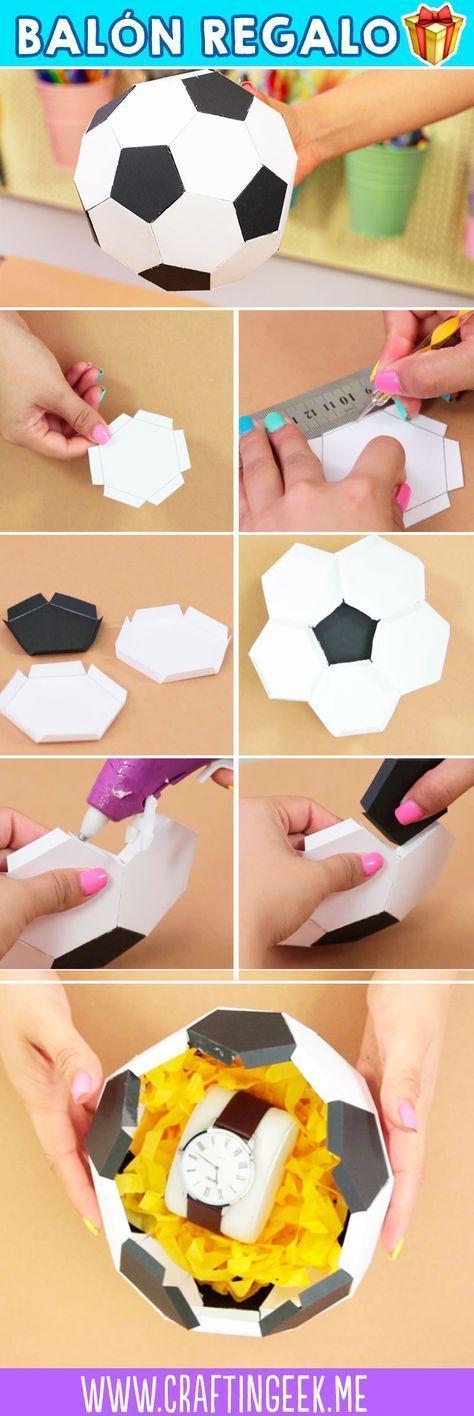 Regalos originales Caja de taco y balón de papel