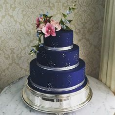 20 fotos de pastel de bodas azul