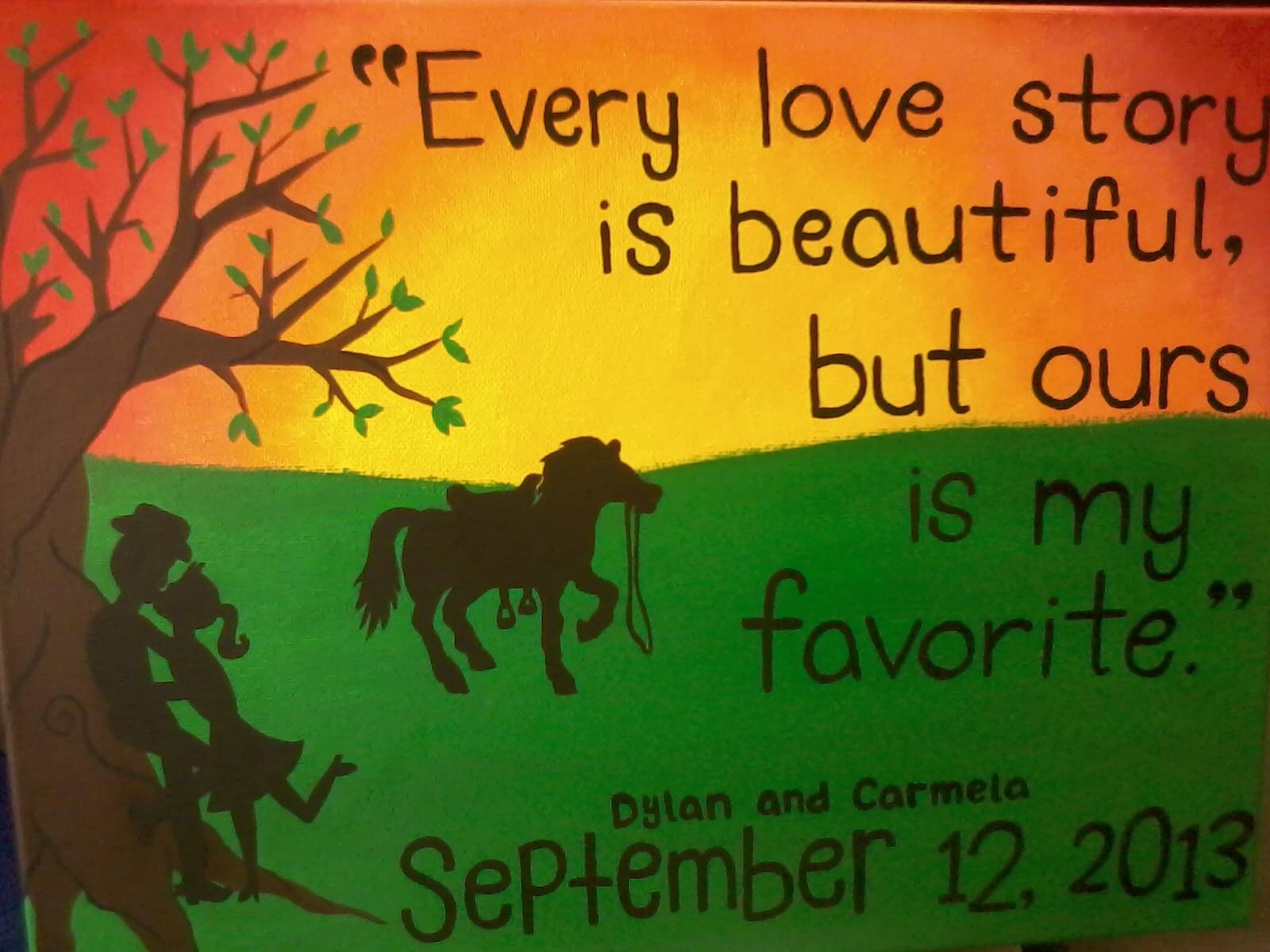 "Cowboy Love Quotes Every Love Story Is Beautiful But Ours Is My Favorite."" Rodeo"