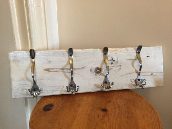 Upcycled coat rack di smallspaceworkshop su Etsy