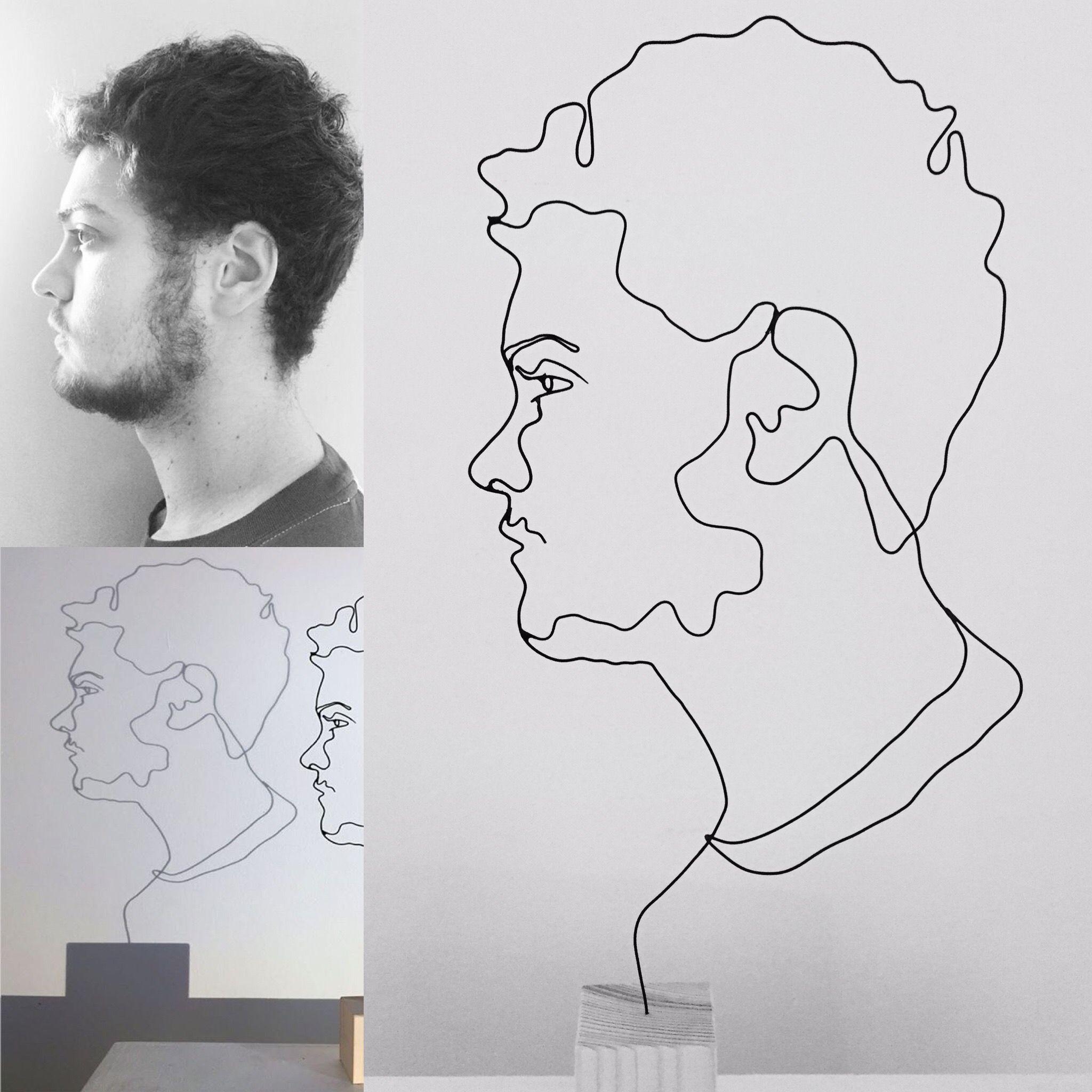 Sculpture fil de fer Wire portrait | Fils de fer | Pinterest | Draht ...