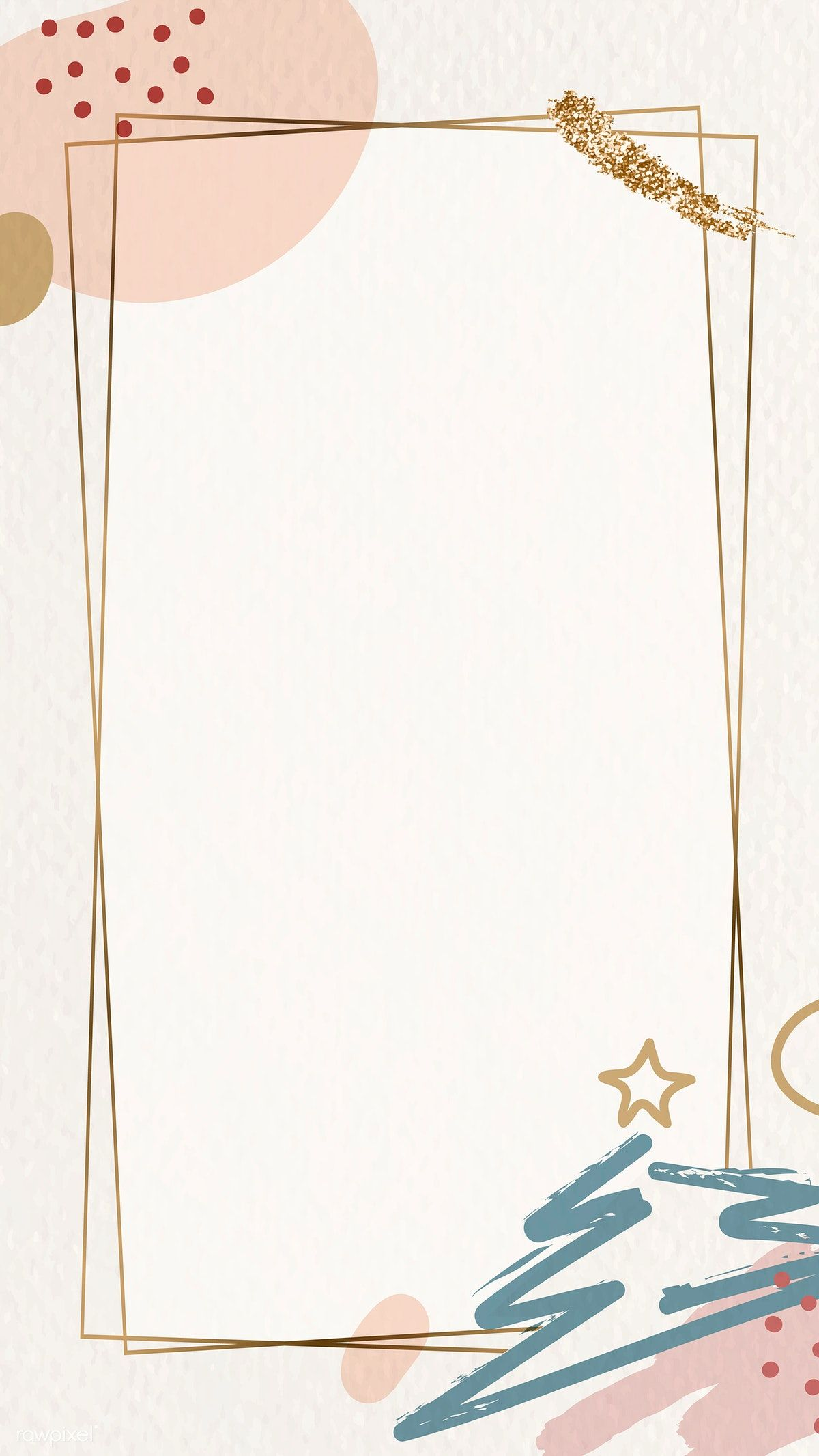 Download Premium Vector Of Gold Frame On Christmas Pattern Mobile Phone Christmas Phone Wallpaper Christmas Wallpaper Cute Christmas Wallpaper