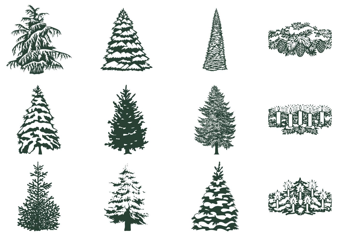 Winter Tree Brush And Candle Brush Pack Winter Trees Tree Winter