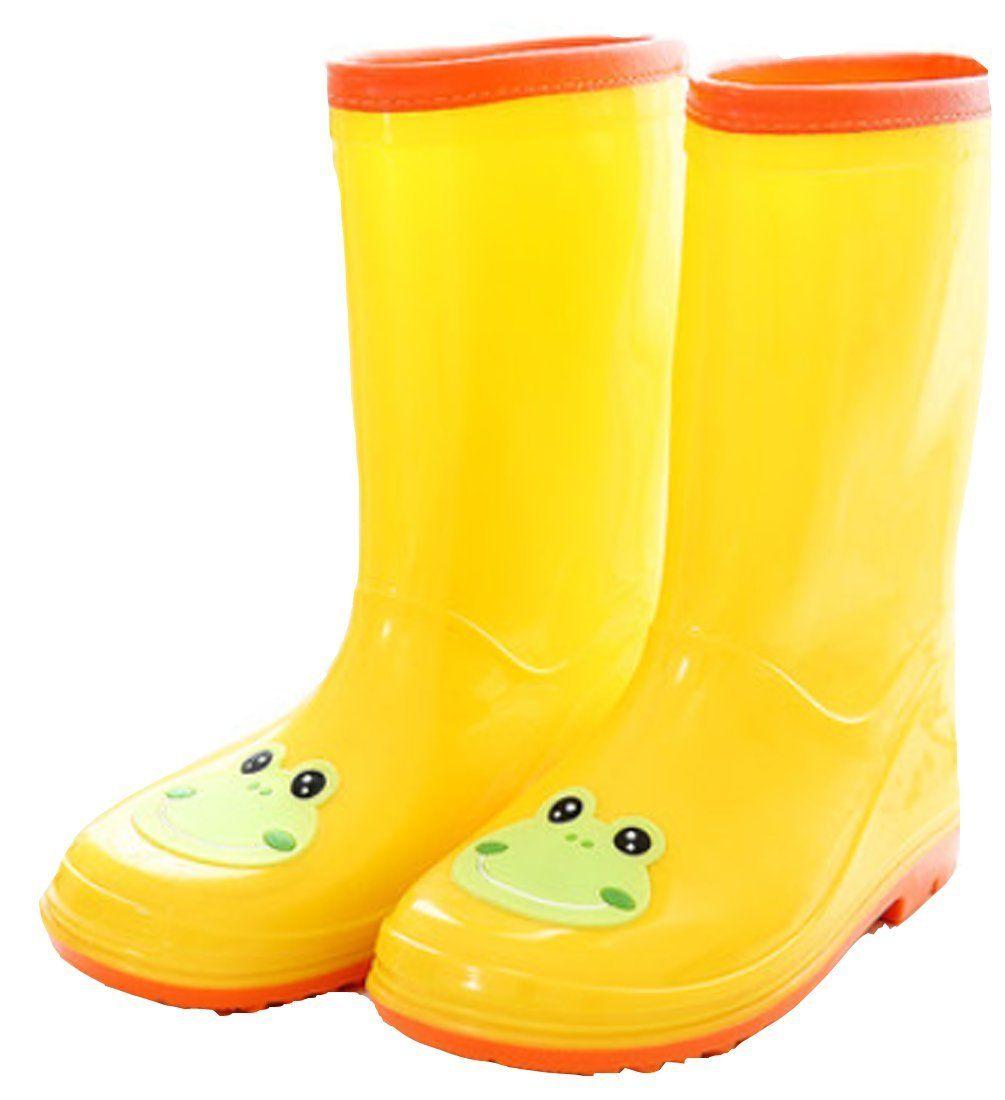 vecjunia girls breathable slip resistant cartoon rain boot snow