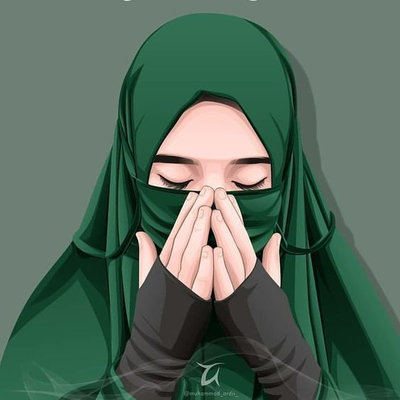 Gambar Kartun Wanita Muslimah Sedih 150 Gambar Kartun Muslimah Berkacamata Cantik Sedih Terlengkap Lukisan Wajah Kartun Ilustrasi Karakter