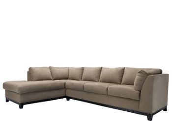 kathy ireland Home Wellsley 2-pc. Microfiber Sectional Sofa