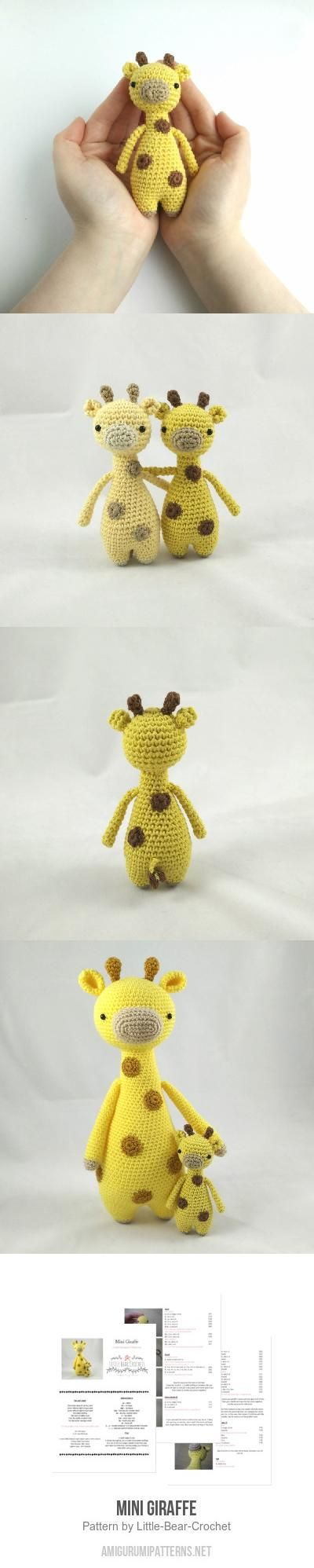 Mini Giraffe amigurumi pattern by Little Bear Crochet | Jirafa ...