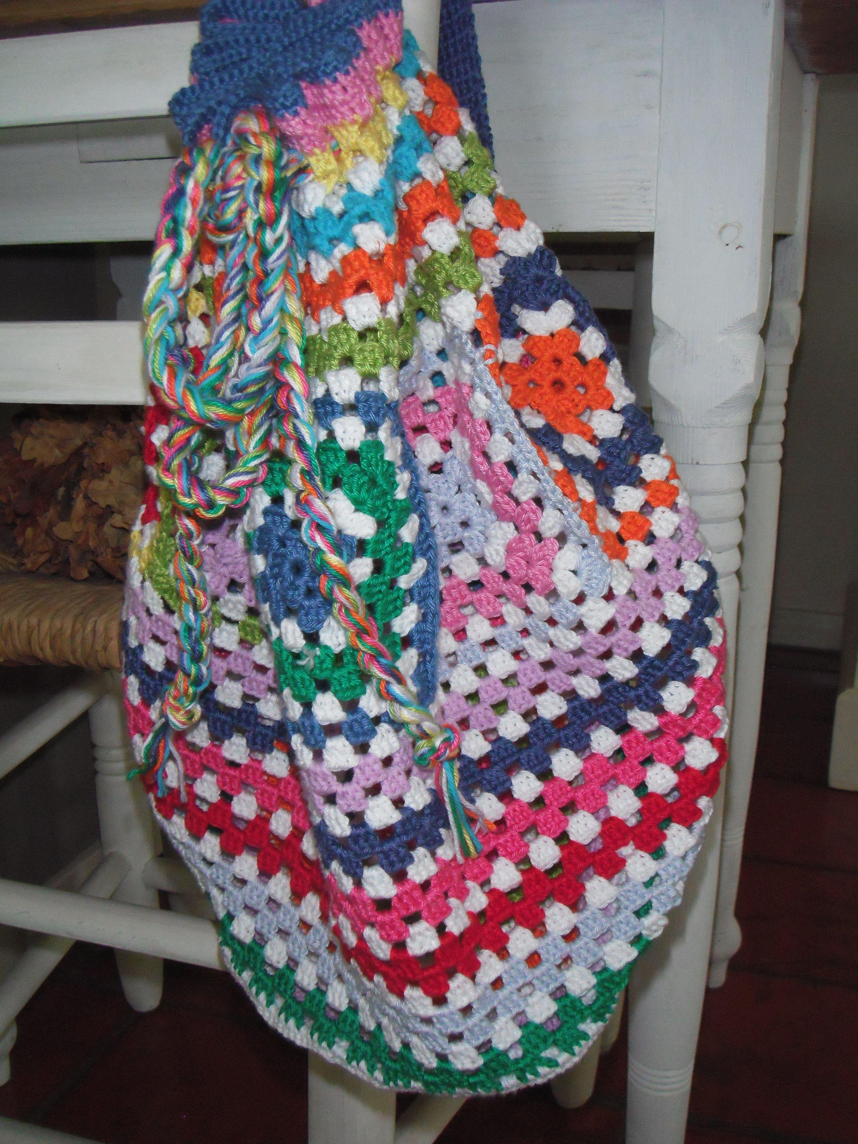 Gehaakte tas in vele kleuren