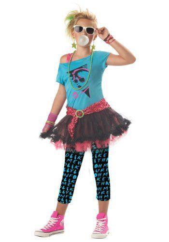 Child/Tween Large (10 12) 80s Valley Girl Halloween Costumes - creative teenage girl halloween costume ideas