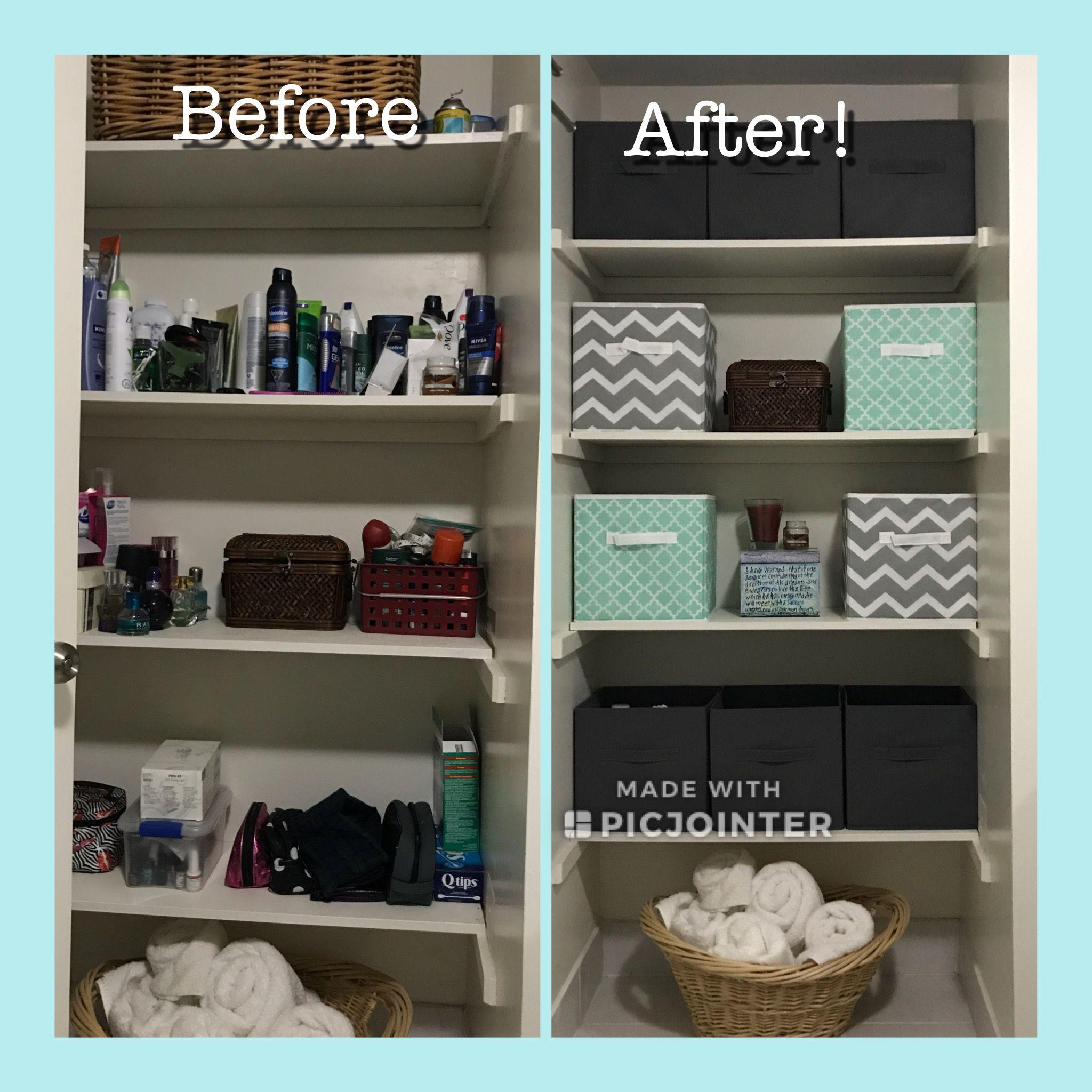 Bathroom Closet Organization Cube Storage