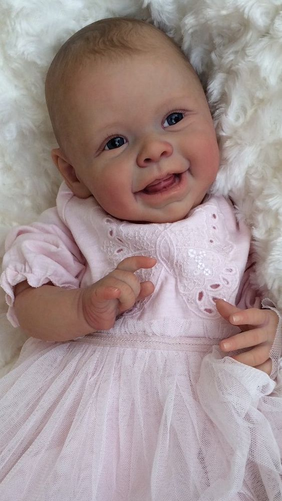 Cute Reborn Baby Doll Soft Silicone 18 Inch Handmade Baby: ADORABLE~ Reborn Baby GIRL~ HARPER By