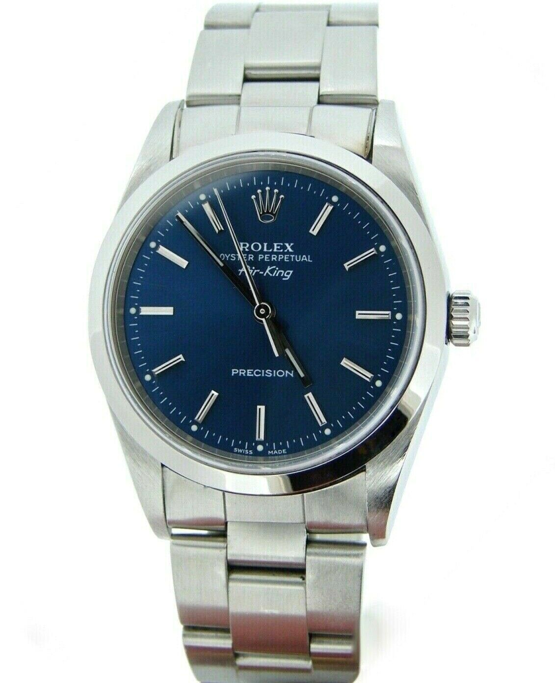 Rolex Air King Precision Mens Stainless Steel Watch Oyster