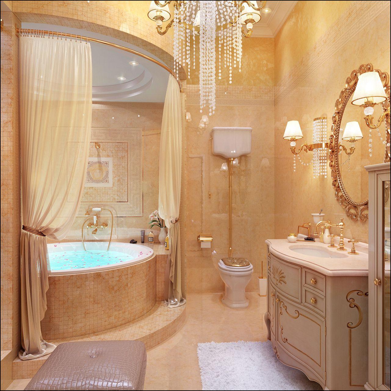 Luxury Home Interiors Bathroom: Bath With Jacuzi.