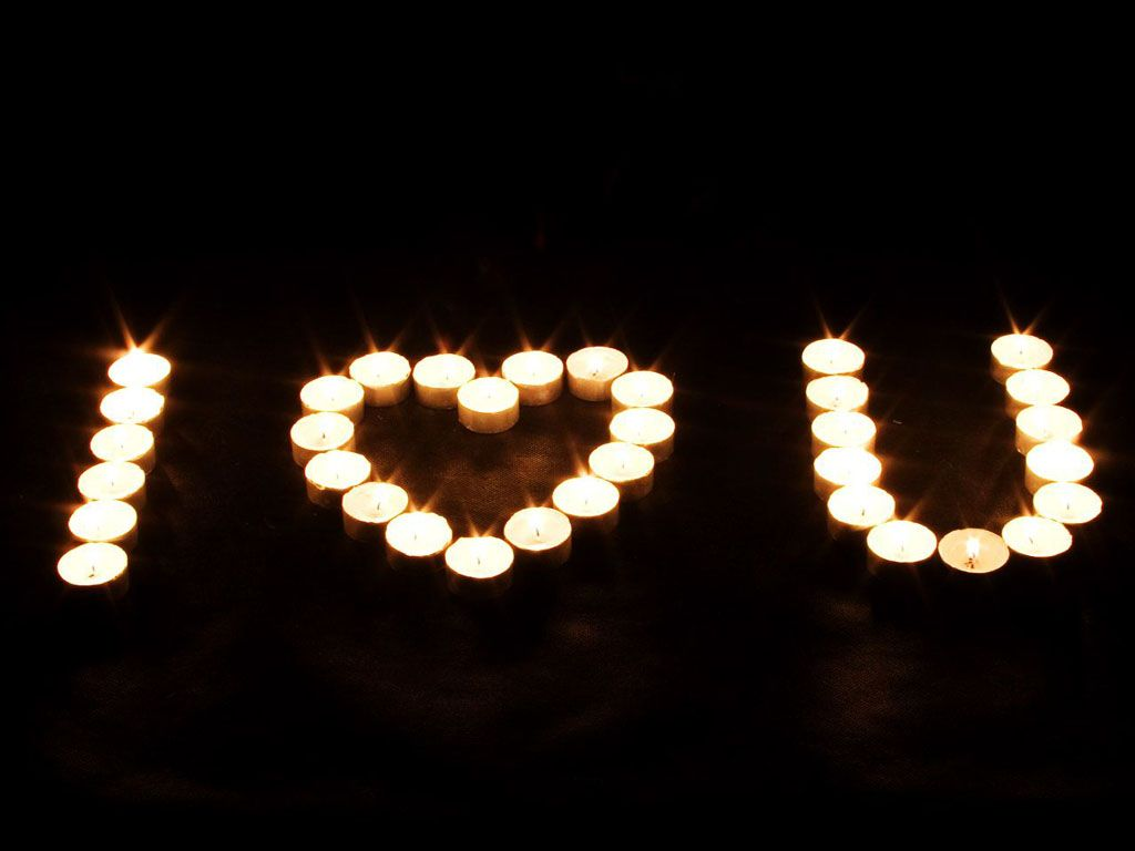 I Love U Photo I Love U Candles Wallpaper Tea Lights I Love You Pictures