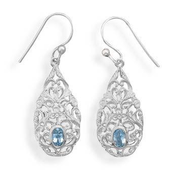 Lamire Blue Topaz Earrings