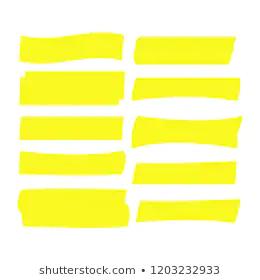 Yellow Highlight Marker Lines Highlighter Strokes Stock Vector Royalty Free 1144656641 Highlighter Markers Vector