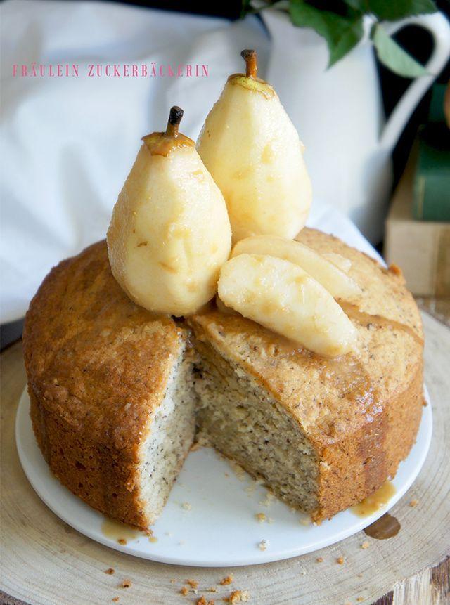 Haselnusskuchen mit Birnen und Karamell [Wir haben Besuch!]
