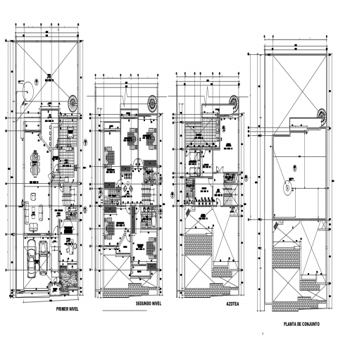 Apartment Autocad Floor Plan And Architecture Drawing Residential Apartments Open House Plans Architecture Plan
