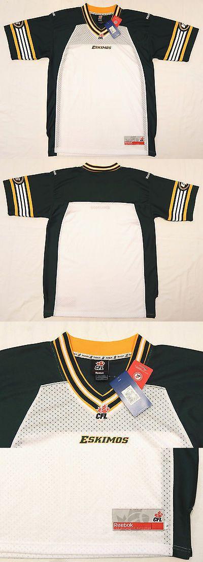 Football-CFL 2861  Edmonton Eskimos Blank Reebok Football Jersey Cfl  Stitched Adult Large New 8957d75cf