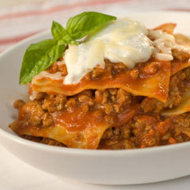 Weeknight Skillet Lasagna Recipe Main Dishes with lasagna noodles, ground beef, ragu old world style pasta sauc, water, ricotta cheese, shredded mozzarella cheese