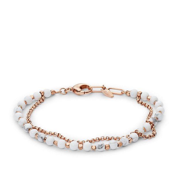 bracelet perle fossil