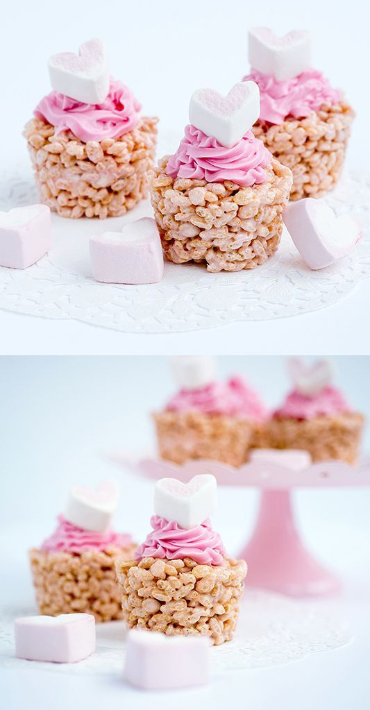 Marshmallow knusprige Cupcakes Marshmallow knusprige Cupcakes,