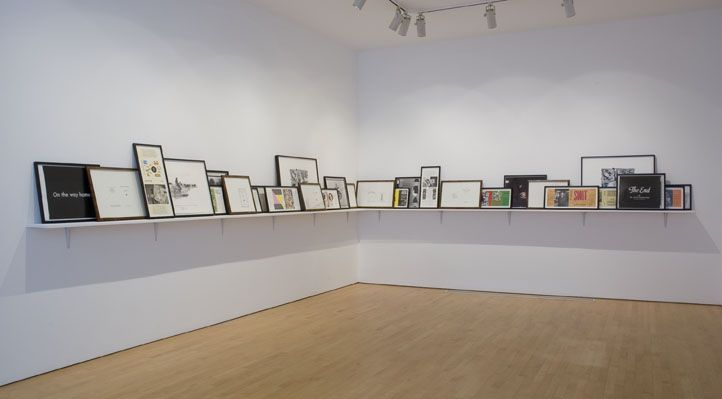 allen ruppersberg. wondrous remains, 2007. inspiration for how to arrange an art collection.
