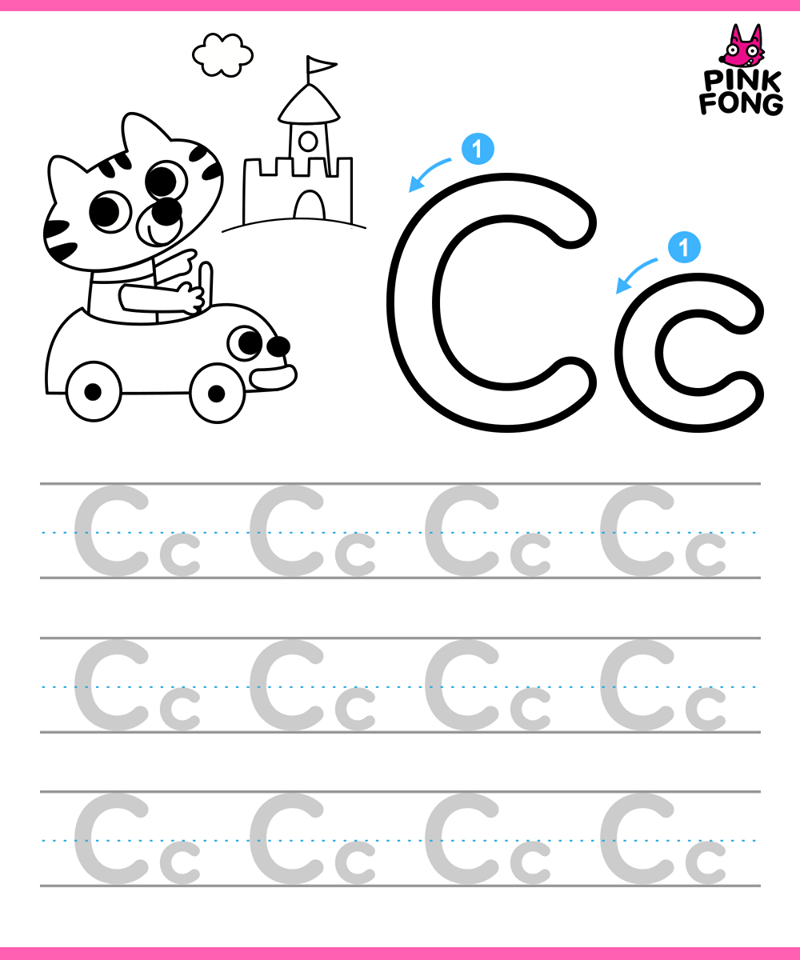 Alphabet Tracing Sheet_the Letter C Abc phonics