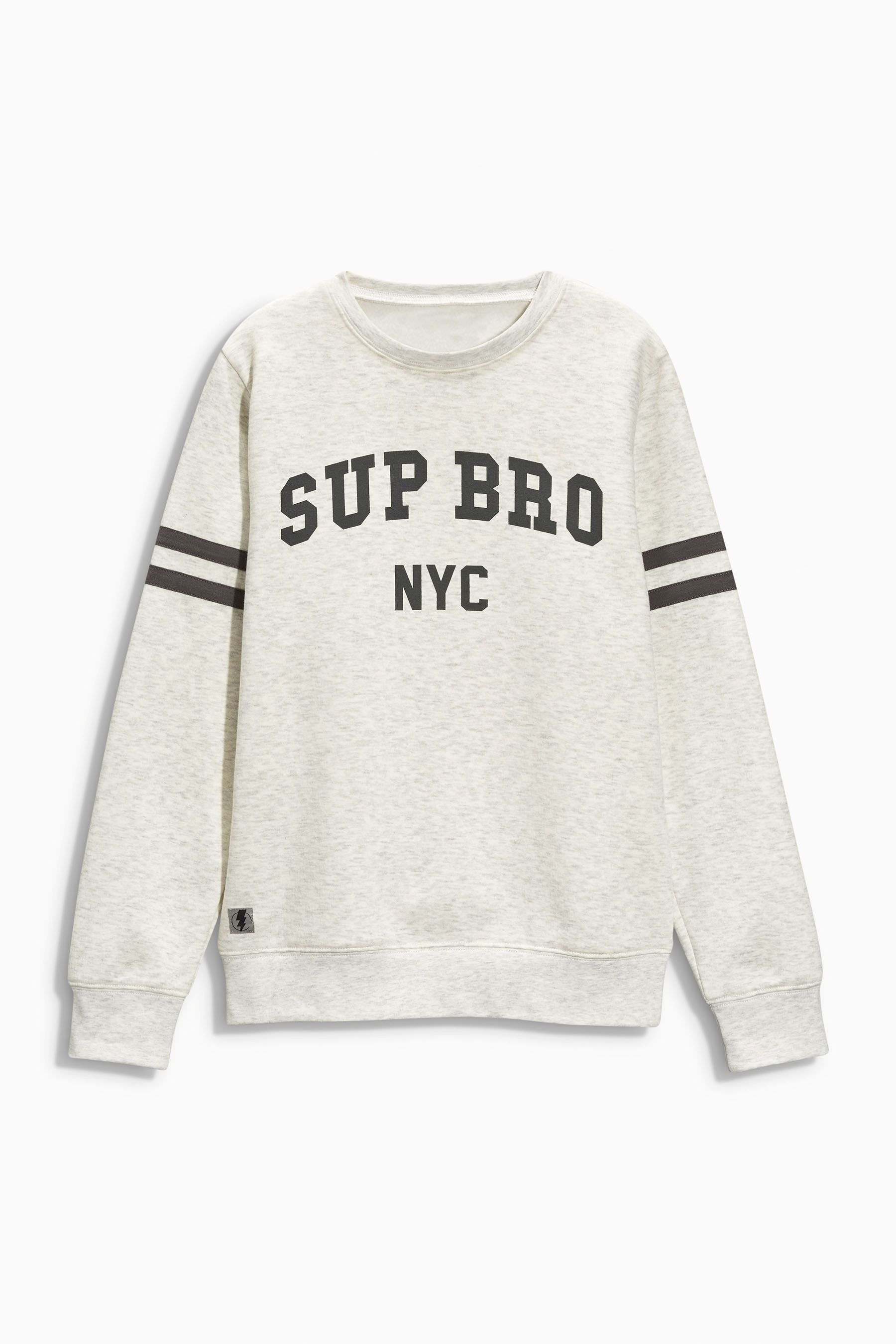 ef8a58e58c00 Buy Ecru  Sup Bro  Crew Neck Sweat (3-16yrs) from the Next UK online ...