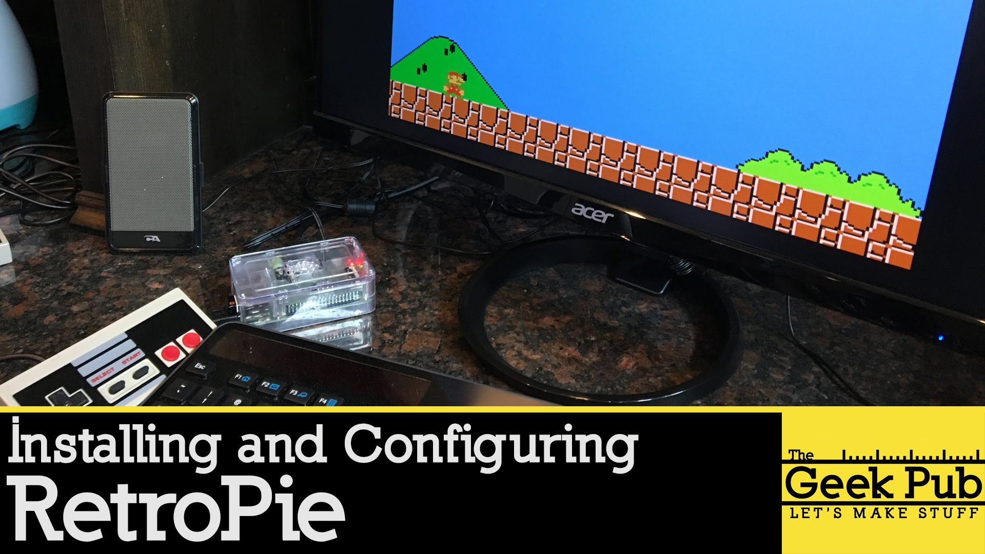 Setting up Retropie on a Raspberry Pi 3 for an Arcade Cabinet