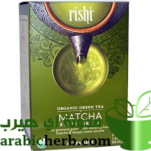 شاي اخضر ماتشا ياباني عضوي من اي هيرب Organic Green Tea Rishi Tea Super Greens