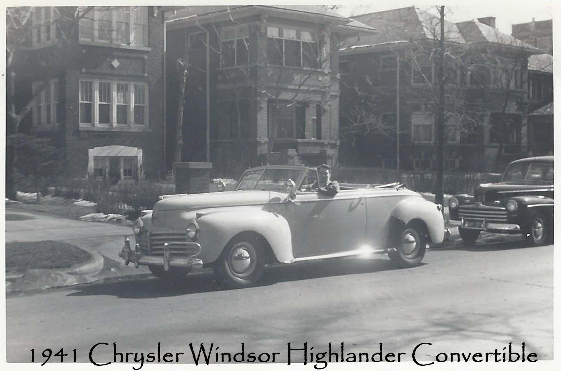 My Father\'s first car. 1941 Chrysler Windsor Highlander Convertible ...